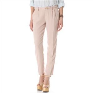 Joie Bannor Belted Slacks in Dusty Pink Sand 8